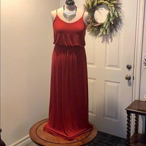 Lush red maxi dress!